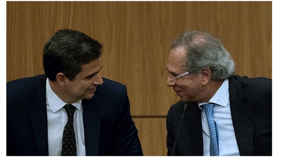 Roberto Campos Neto e Paulo Guedes - Sérgio Lima/AFP