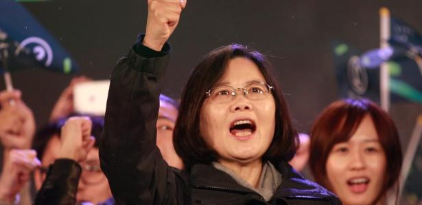 Tsai Ing-wen, candidata presidencial do Partido Democrático Progressista
