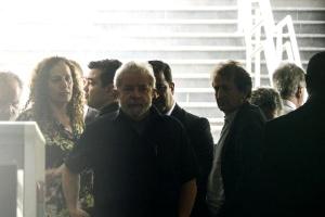 O ex-presidente Luiz Inácio Lula da Silva chega ao diretório do PT após depor