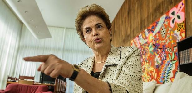 A presidente afastada, Dilma Rousseff, no Palácio do Alvorada
