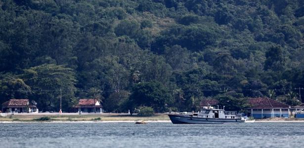 Vista de praia da Restinga da Marambaia, onde vai ficar hospedado o presidente Michel Temer e sua família neste final de semana de Réveillon