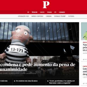 """Decisão vira manchete do jornal português """"Público"""" - Reprodução"""