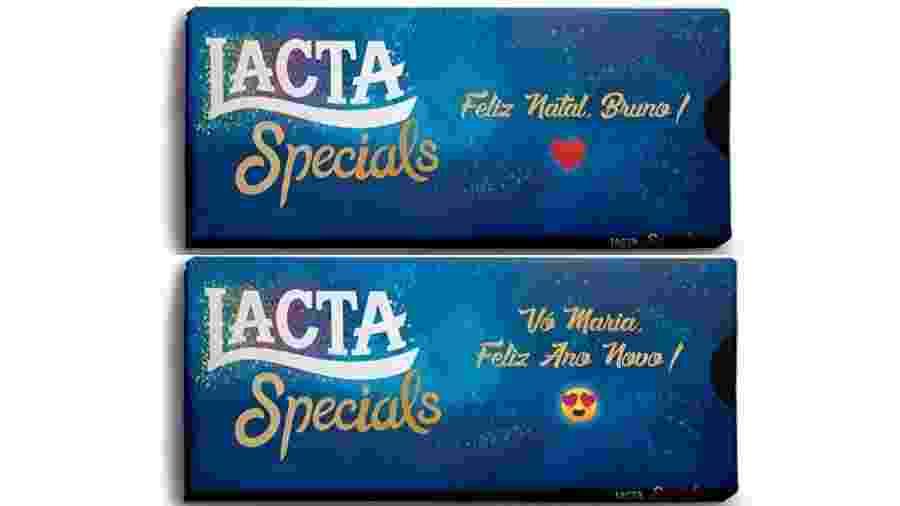 Lacta lança embalagens personalizadas de chocolate para as festas de fim de ano - Divulgação