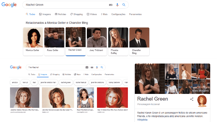 rachel green - reprodução/Google - reprodução/Google