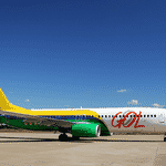 Em 2013, para comemorar o título de transportadora oficial da Seleção brasileira, a Gol pintou um Boeing 737-800 NG com as cores da bandeira do Brasil - Divulgação
