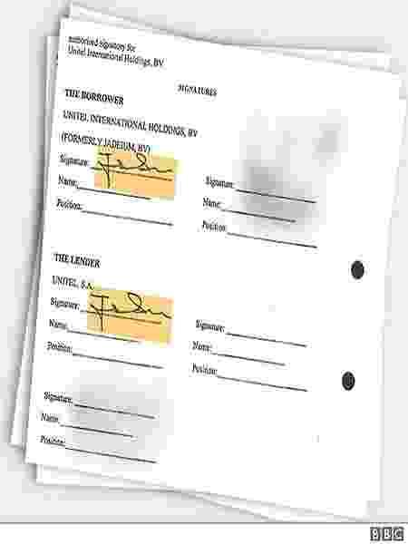 Os documentos vazados mostram que Isabel dos Santos assinou empréstimos da Unitel como credora e mutuária - BBC