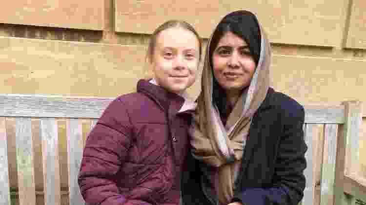 Greta Thunberg se encontra com Malala Yousafzai em Oxford - Reprodução - Reprodução