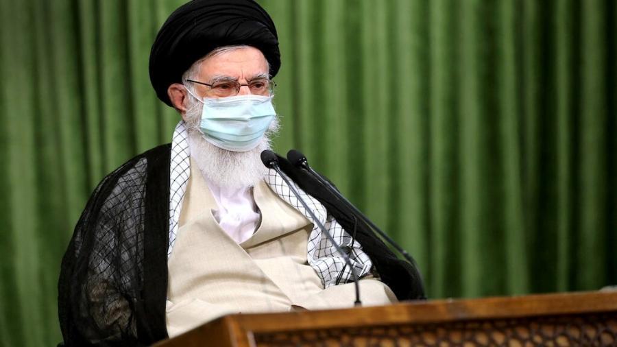 Líder supremo do Irã, aiatolá Ali Khamenei, em Teerã -