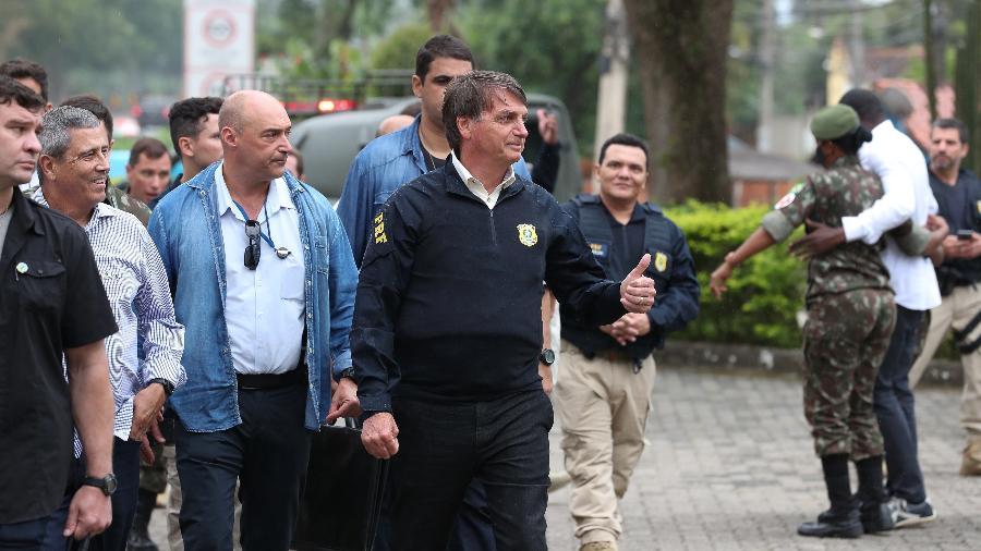 Presidente Jair Bolsonaro visita posto da Polícia Rodoviária Federal, no Rio de Janeiro - Marcos Corrêa/PR