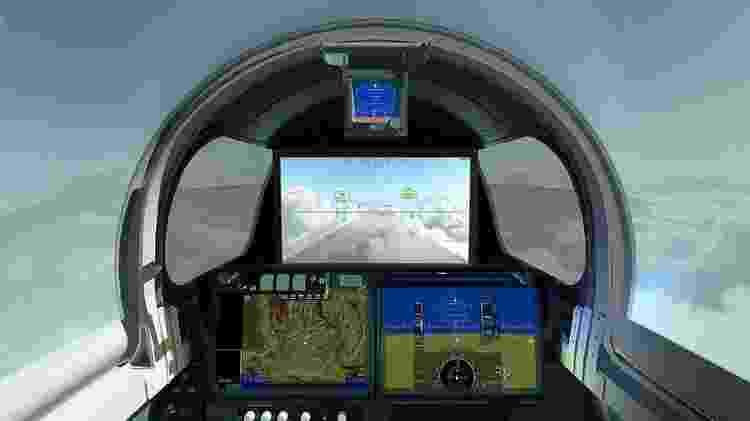 A frente comprida torna difícil pilotar o X-59 - Nasa - Nasa