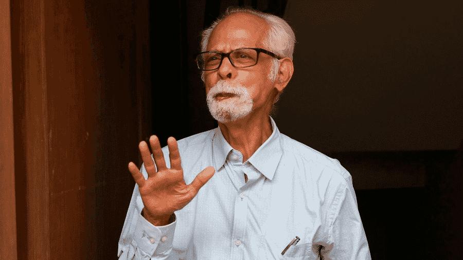 O tio de Kamala Harris, Gopalan Balachandran, parabenizou a sobrinha pela vitória nos Estados Unidos e disse que família estará na posse - SkyNews/Reprodução