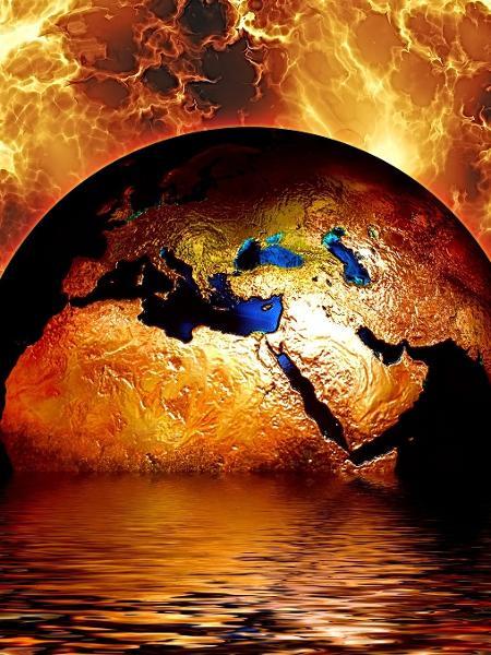Ilustração - planeta terra aquecimento global mudança climática - Gerd Altmann/ Pixabay