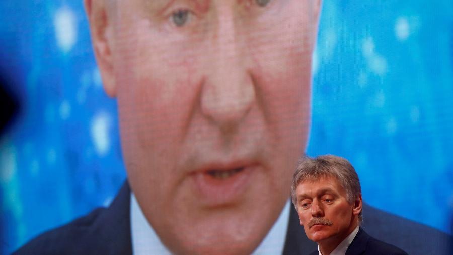 O porta-voz do Kremlin, Dmitri Peskov, descartou neste domingo (11) a possibilidade de uma guerra, mas alertou que a Rússia não aceitará uma guerra civil (foto de arquivo) - MAXIM SHEMETOV/REUTERS