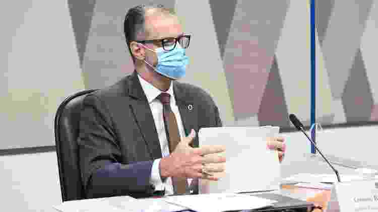 O diretor-presidente da Anvisa, Antonio Barra Torres, em depoimento à CPI da Covid - Jefferson Rudy/Agência Senado - Jefferson Rudy/Agência Senado