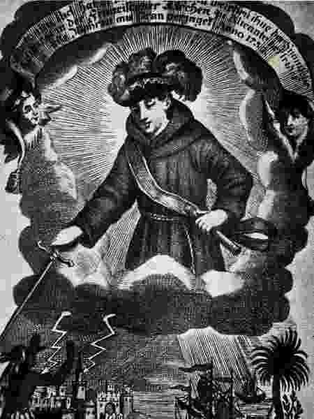 Santo Antônio militar, em ilustração de autor desconhecido - BBC - BBC