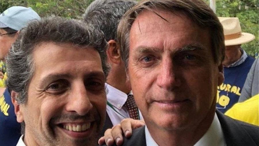 O novo ministro do Meio Ambiente, Joaquim Álvaro Pereira Leite, ao lado do presidente Jair Bolsonaro - Reprodução