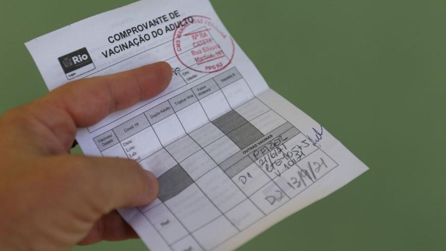 Comprovante de vacinação covid-19 - Tânia Rêgo/Agência Brasil