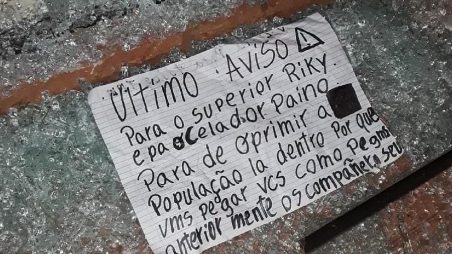 Bilhete foi deixado na cena do crime - Reprodução/Twitter/La Nación Paraguay
