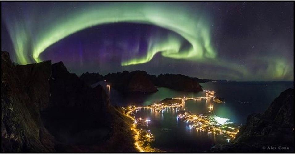 28.jun.2016 - Fotos de paisagens celestes foram selecionados como vencedores do prêmio anual Fotografia da Terra e do Céu - TWAN, na sigle em inglês. Na categoria principal, Alex Conu venceu com sua imagem de uma aurora boreal sobre a região de Lofoten, na Noruega