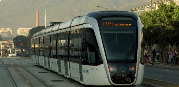 Atualmente, o VLT liga a rodoviária Novo Rio ao aeroporto Santos Dumont, no centro da cidade
