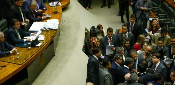 23.ago.2017 - Plenário da Câmara dos Deputados durante votação da proposta de reforma política, sob a presidência de Rodrigo Maia (DEM-RJ) - Pedro Ladeira/Folhapress