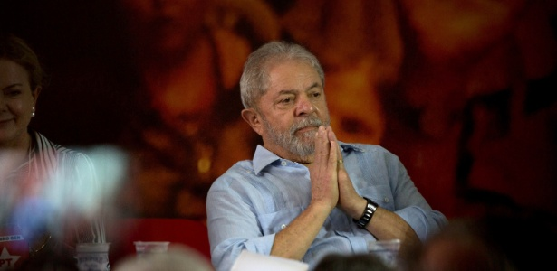 25.jan.2018 - O ex-presidente Luiz Inácio Lula da Silva participa de evento da direção nacional do PT para reafirmar sua candidatura à Presidência