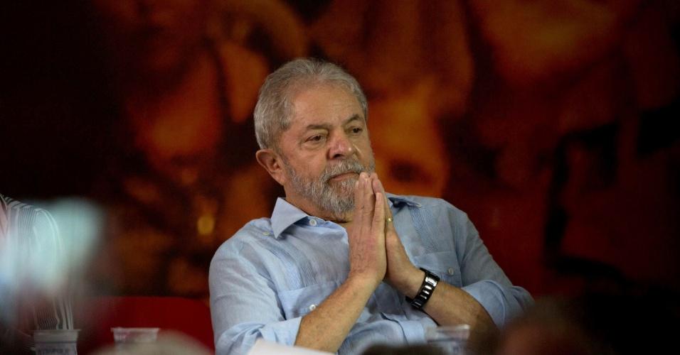 25.jan.2018 - O ex-presidente Luiz Inácio Lula da Silva (SP) participa de evento da direção nacional do PT para reafirmar sua candidatura à Presidência