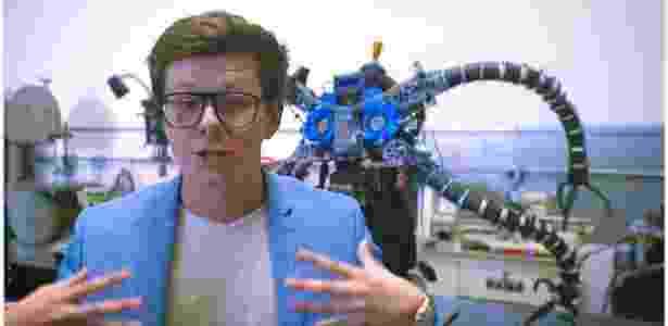 13.jun.2018 - Erik Finman financia projeto de braços robóticos do Doutor Octopus da Marvel - Reprodução/YouTube whaamfx - Reprodução/YouTube whaamfx
