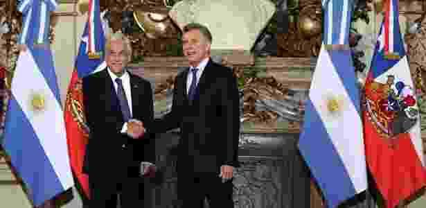 Mauricio Macri e Sebastián Piñera em Buenos Aires - Marcos Brindicci/Reuters - Marcos Brindicci/Reuters