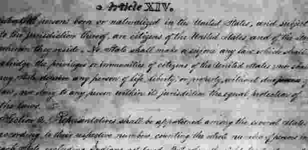 A 14ª Emenda à Constituição dos Estados Unidos foi ratificada em 1868 - Hulton Archive/Getty Images - Hulton Archive/Getty Images