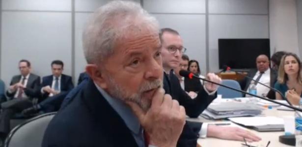 Lula depõe sobre sítio de Atibaia (SP) na investigação da Lava Jato - Reprodução