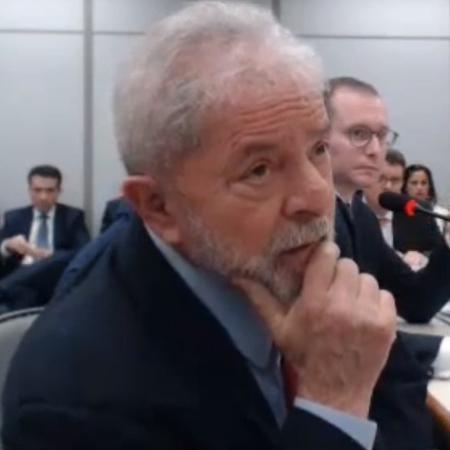 14.nov.2018 - Lula depõe no processo da Lava Jato sobre o sítio de Atibaia (SP) - Reprodução/Justiça Federal do Paraná