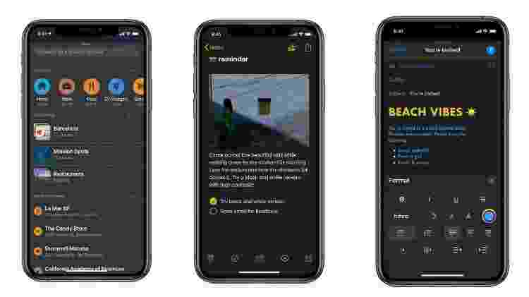 Modo escuro do iOS 13 - Divulgação