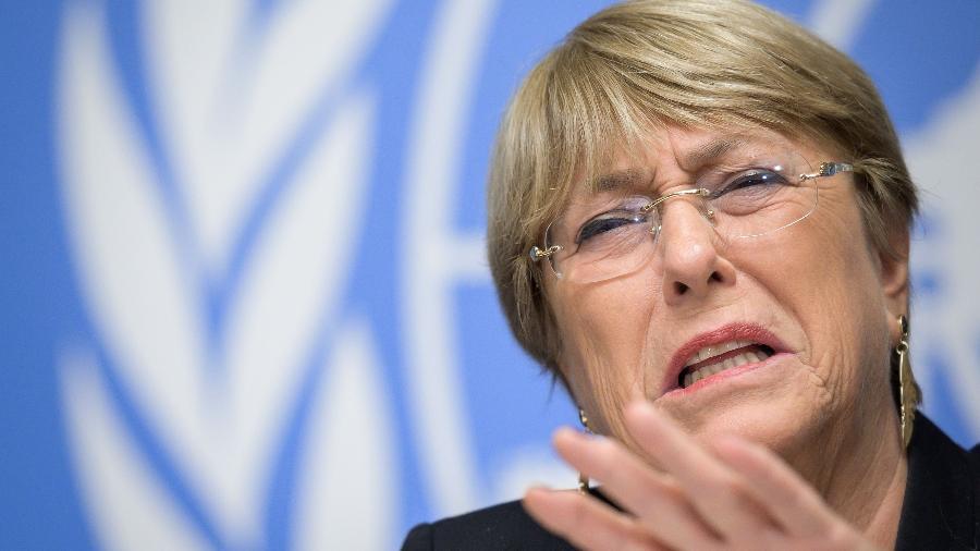 A chilena Michelle Bachelet disse que mulheres chefiam 75% dos países que lidaram melhor com a pandemia - Fabrice Coffrini/AFP