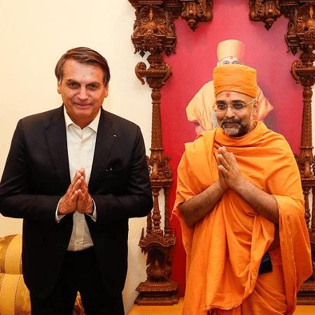 Presidente Jair Bolsonaro participou de solenidades na Índia nesta sexta-feira - Alan Santos/PR
