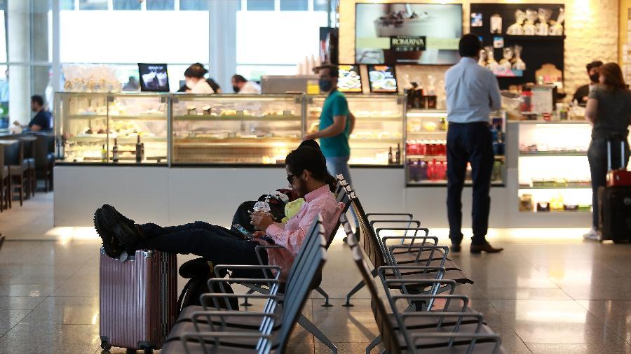 14.mai.2020 - Aeroporto Internacional de Viracopos, em Campinas, registrou uma queda histórica de 82,2% na movimentação de passageiros durante o mês de abril - Leandro Ferreira / Estadão Conteúdo