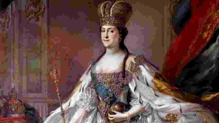 Catarina II: ah, ela mandava mesmo!  Não havia lei deste mundo que contivesse o poder do seu cetro - Reprodução