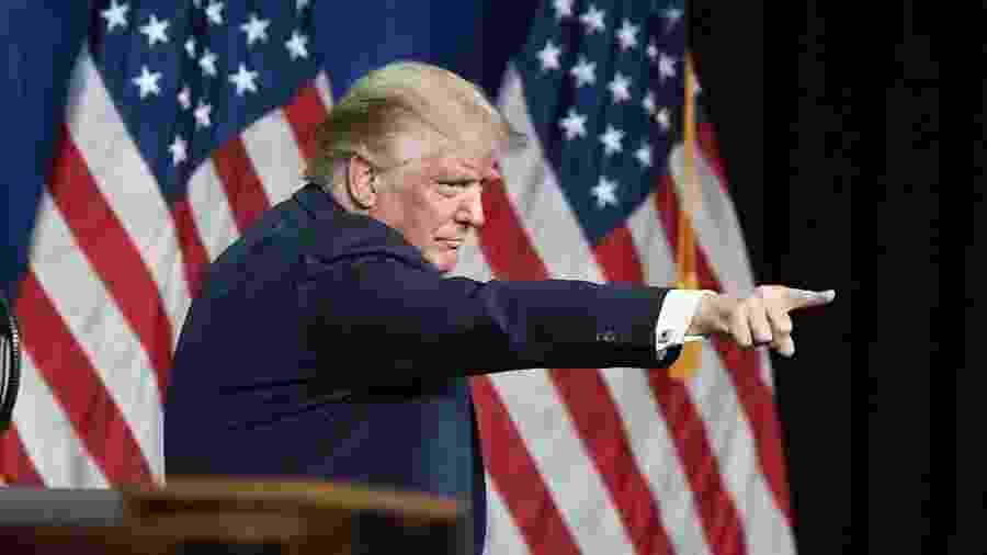 O presidente Donald Trump não ofereceu provas para a acusação a Biden - David T. Foster III/Getty Images/AFP