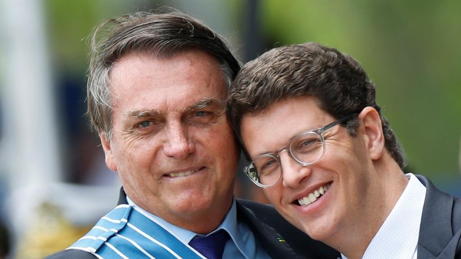 O presidente Jair Bolsonaro e o ministro Ricardo Salles (Meio Ambiente) - Adriano Machado/Reuters