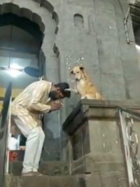 """Religiosos entram na brincadeira e pedem """"benção"""" ao cachorro - Reprodução/Facebook"""