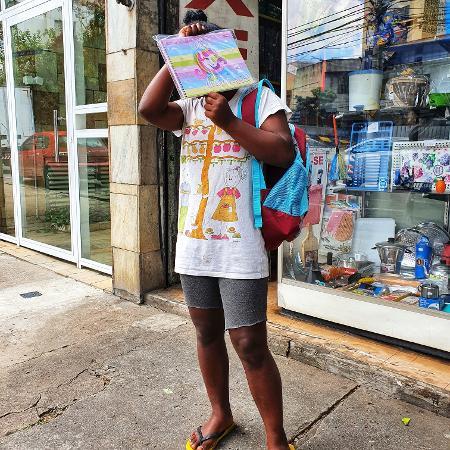 A menina Sabrina, que foi constrangida ao comprar material escolar - Arquivo Pessoal/Newman Costa