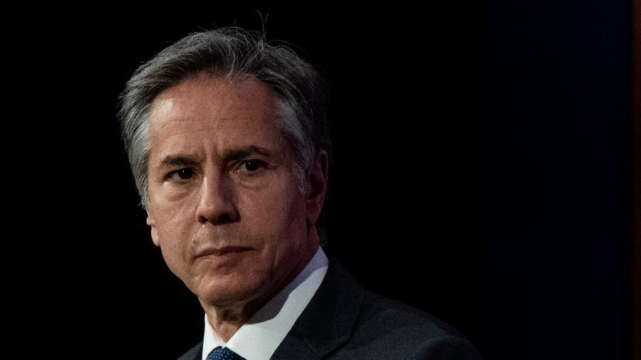 O secretário de Estado norte-americano, Antony Blinken, se reuniu com a vice-presidente e chanceler colombiana, Marta Lucía Ramírez - Chris J Ratcliffe/Getty Images