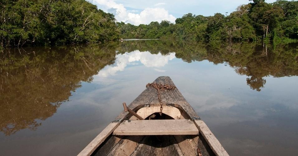 19.abr.2016 - O rio Amazonas tem mais de 600 km e corta seis países ? Peru, Bolívia, Venezuela, Colômbia, Equador e Brasil ? antes de desaguar no oceano Atlântico
