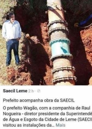 Montagem com prefeito de Leme, Wagner Ricardo Antunes Filho, rendeu memes