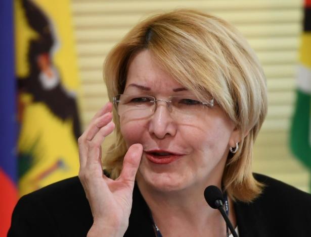 A ex-procuradora-geral Luisa Ortega Díaz participa de encontro de procuradores do Mercosul, em Brasília - Evaristo Sa/ AFP