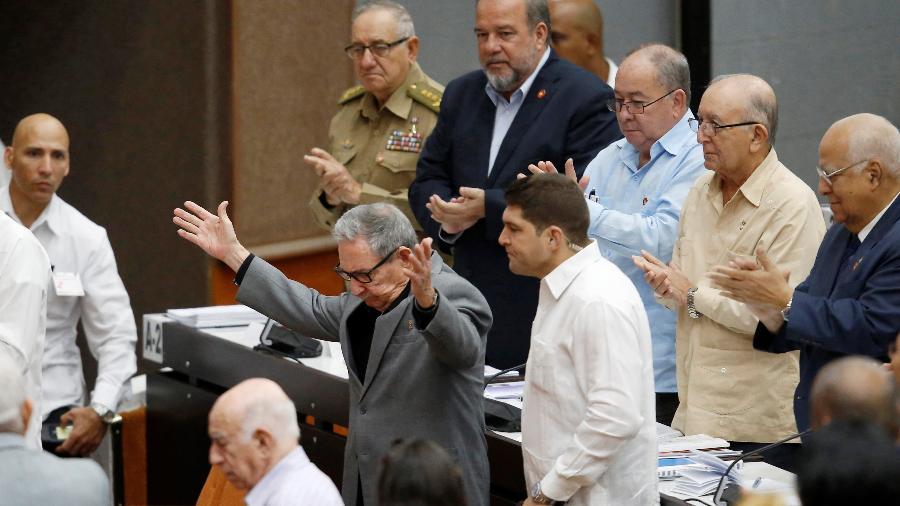 Ex-presidente cubando Raul Castro na Assembleia Nacional em Havana - Reuters