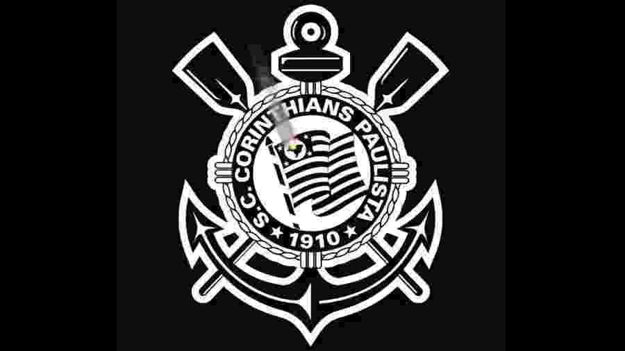 Em campanha, Corinthians colocou escudo em preto e branco e simulou fogo no mapa do Brasil - Reprodução
