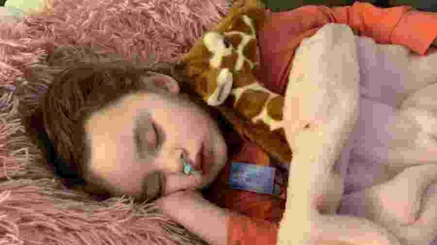 Jade DeLucia, de 4 anos, perdeu a visão após contrair uma gripe nos EUA - Reprodução/Facebook
