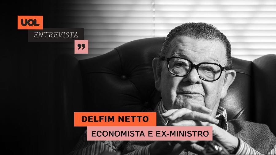 UOL Entrevista Delfim Netto - Arte para UOL Entrevista do dia 13.04.20
