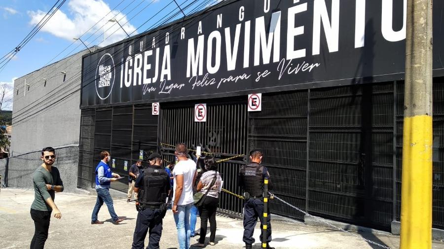 Igreja Movimento Comunidade Quadrangular, em Betim, é interditada por promover culto com aglomeração - Divulgação/Prefeitura de Betim